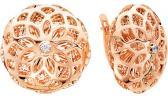 Серебряные серьги круглые Серебро России 421-25-08-42112 с фианитами